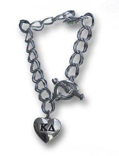 Sorority Heart Charm Bracelet