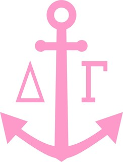 Delta Gamma Simple Anchor  Decal
