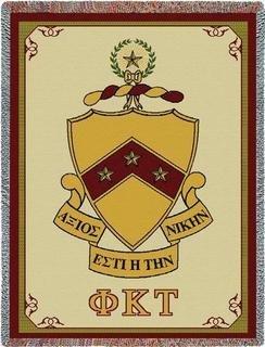 Phi Kappa Tau Afghan Blanket Throw