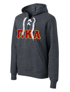 DISCOUNT-Pi Kappa Alpha Lace Up Pullover Hooded Sweatshirt