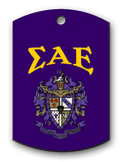 Sigma Alpha Epsilon Crest - Shield Dog Tag