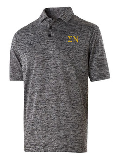 Sigma Nu Small Greek Letter Electrify Polo