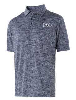 Tau Delta Phi Small Greek Letter Electrify Polo