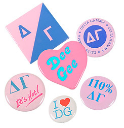 Sorority Buttons 6-Pack