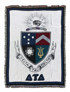 Delta Tau Delta Afghan Blanket Throw