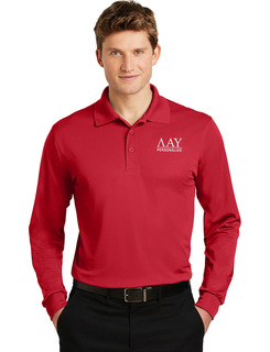 Lambda Alpha Upsilon- $35 World Famous Long Sleeve Dry Fit Polo