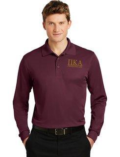 Pi Kappa Alpha- $30 World Famous Long Sleeve Dry Fit Polo