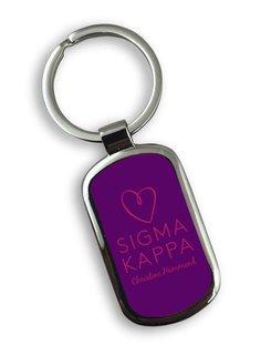Sigma Kappa Chrome Mascot Key Chain