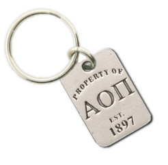Alpha Omicron Pi Property Of Tag Keyring