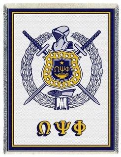 Omega Psi Phi Afghan Blanket Throw
