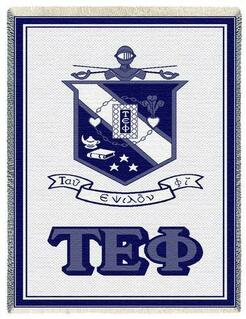 Tau Epsilon Phi Afghan Blanket Throw