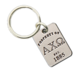 Alpha Chi Omega Property Of Tag Keyring