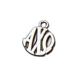 Alpha Chi Omega Silver Circle Charm - CLOSEOUT