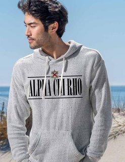 Alpha Chi Rho Line Crest Lucas Loop Fleece Hood