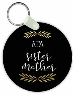 Alpha Gamma Delta Sister Mother Keychain