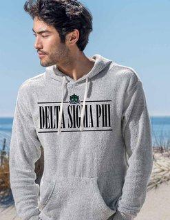 Delta Sigma Phi Line Crest Lucas Loop Fleece Hood