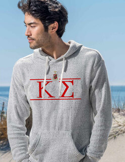 Kappa Sigma Line Crest Lucas Loop Fleece Hood