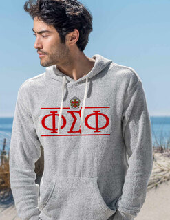 Phi Sigma Phi Line Crest Lucas Loop Fleece Hood