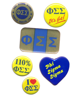 Phi Sigma Sigma Sorority Buttons 6 Pack