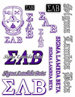 Sigma Lambda Beta Multi Greek Decal Sticker Sheet