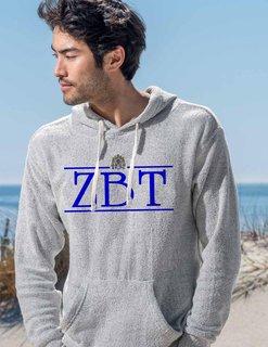 Zeta Beta Tau Line Crest Lucas Loop Fleece Hood