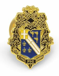 Alpha Phi Omega Color Crest Pins