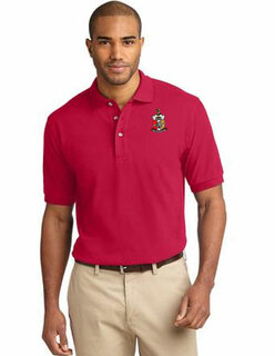 DISCOUNT-Tall Emblem Greek Polo