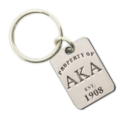 Alpha Kappa Alpha Property Of Tag Keyring - CLOSEOUT