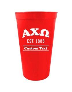 Alpha Chi Omega Custom Greek Cooper Stadium Cup