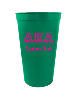 Alpha Kappa Alpha Custom Greek Collegiate Stadium Cup