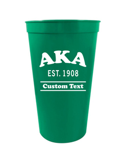 Alpha Kappa Alpha Custom Greek Cooper Stadium Cup