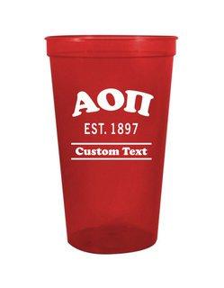 Alpha Omicron Pi Custom Greek Cooper Stadium Cup