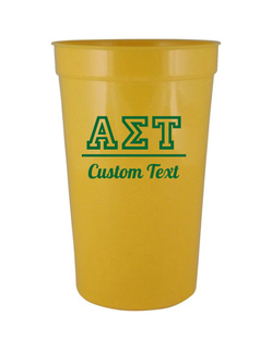 Alpha Sigma Tau Custom Greek Collegiate Stadium Cup
