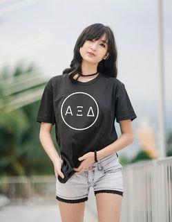 Alpha Xi Delta Circle Comfort Colors Tee