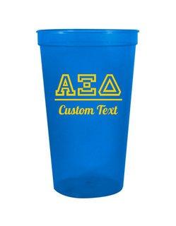 Alpha Xi Delta Custom Greek Collegiate Stadium Cup