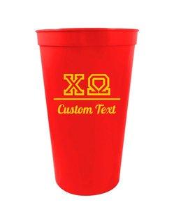 Chi Omega Custom Greek Collegiate Stadium Cup