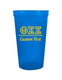 Phi Sigma Sigma Custom Greek Collegiate Stadium Cup
