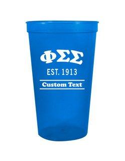 Phi Sigma Sigma Custom Greek Cooper Stadium Cup