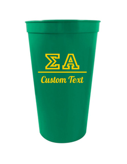 Sigma Alpha Custom Greek Collegiate Stadium Cup