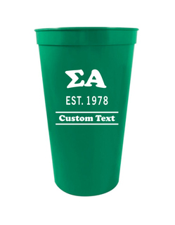 Sigma Alpha Custom Greek Cooper Stadium Cup