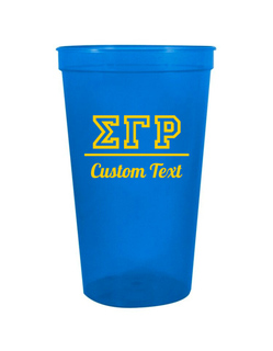 Sigma Gamma Rho Custom Greek Collegiate Stadium Cup