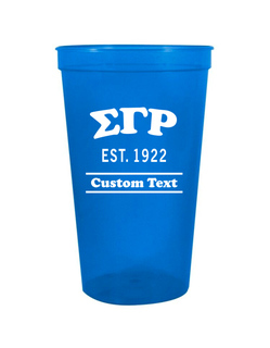 Sigma Gamma Rho Custom Greek Cooper Stadium Cup