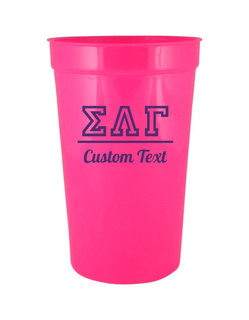 Sigma Lambda Gamma Custom Greek Collegiate Stadium Cup