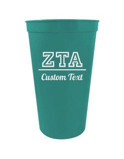 Zeta Tau Alpha Custom Greek Collegiate Stadium Cup