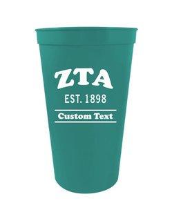 Zeta Tau Alpha Custom Greek Cooper Stadium Cup