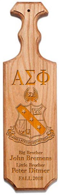 Alpha Sigma Phi Traditional Greek Paddle