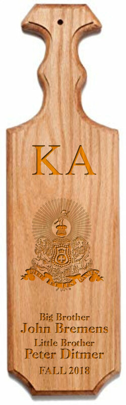 Kappa Alpha Traditional Greek Paddle