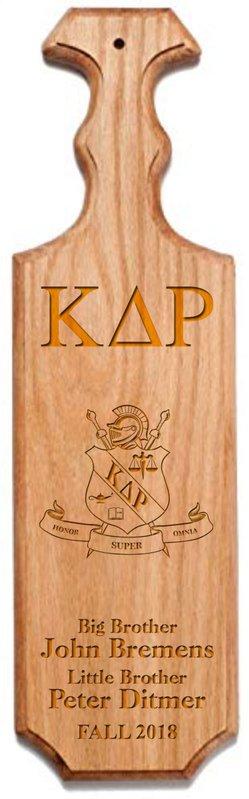 Kappa Delta Rho Traditional Greek Paddle