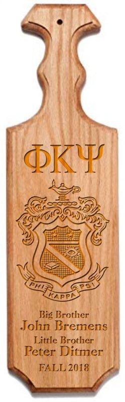 Phi Kappa Psi Traditional Greek Paddle