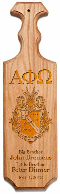 Alpha Phi Omega Traditional Greek Paddle